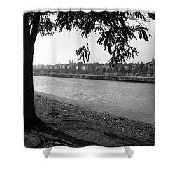 Skyline Maastricht Shower Curtain by Nop Briex
