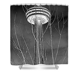 Shower Curtain featuring the photograph Skylon Tower by Valentino Visentini