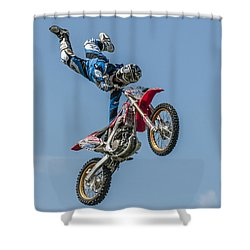 Shower Curtain featuring the photograph Skyrider by Brian Tarr