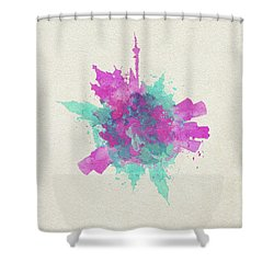 Skyround Art Of Moscow, Russia Shower Curtain