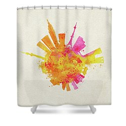 Skyround Art Of Tokyo, Japan  Shower Curtain