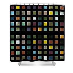 Skyscraper Abstract L Shower Curtain by Michelle Calkins
