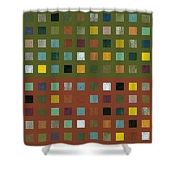 Skyscraper Abstract Ll Shower Curtain by Michelle Calkins