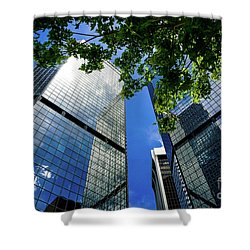 Skyscraper Spring Shower Curtain