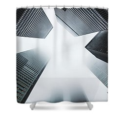 Skyscrapers Shower Curtain by Happy Home Artistry