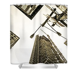 Skyscrapers In New York Seen From Shower Curtain by Perry Van Munster