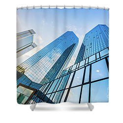 Skyscrapers Shower Curtain by JR Photography