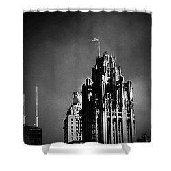 Skyscrapers Then And Now Shower Curtain
