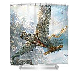 Skyswift Herald Shower Curtain