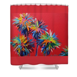 Sl Palms Shower Curtain by Anne Marie Brown