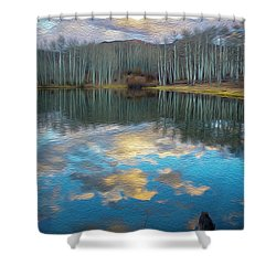 Slack Weiss Autumn Shower Curtain