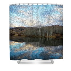 Slack Weiss Lake Shower Curtain