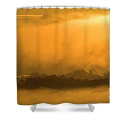 Shower Curtain featuring the photograph sland in the Mist - D009994 by Daniel Dempster