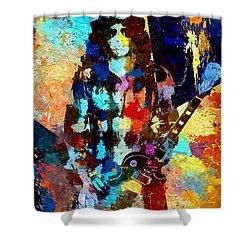 Slash Grunge Shower Curtain