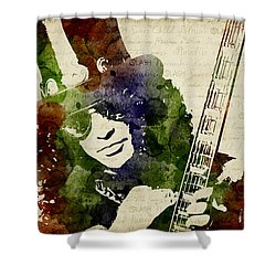 Slash Watercolor Shower Curtain