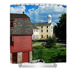 Slater Mills Shower Curtain by James Kirkikis