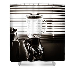 Slatted Shadows Shower Curtain