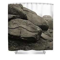 Slaughter Pen At Devils Den Shower Curtain