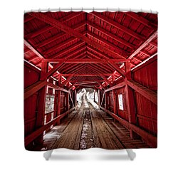 Slaughterhouse Red Shower Curtain