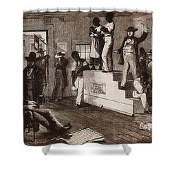 Slave Auction In Virginia Shower Curtain by Photo Researchers