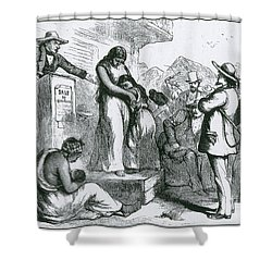 Slave Auction Shower Curtain by Photo Researchers
