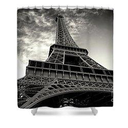 Sleek Eiffel Tower Shower Curtain by John Rizzuto