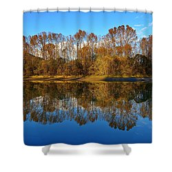 Fraser River Arm  Shower Curtain by Heather Vopni
