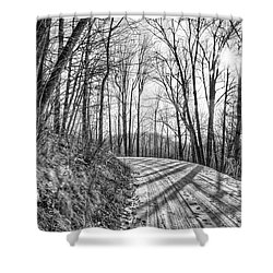 Sleep Hallow Road Shower Curtain