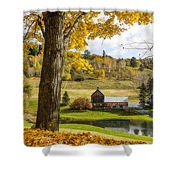 Shower Curtain featuring the photograph Sleep Hollow Farm Woodstock Vt by Betty Denise