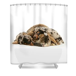 Sleep In Camouflage Shower Curtain