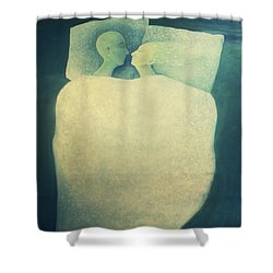 Sleep - In Love Shower Curtain