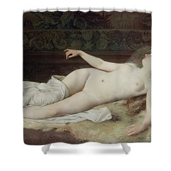 Sleep Shower Curtain by Louis Joseph Raphael Collin