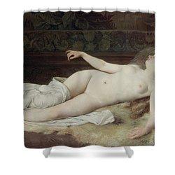 Sleep Shower Curtain by Louis Joseph Raphael Collin