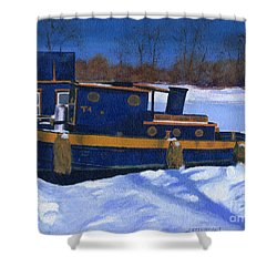 Sleeping Barge Shower Curtain