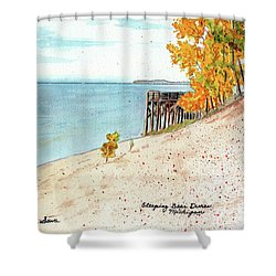 Sleeping Bear Dunes Shower Curtain by LeAnne Sowa