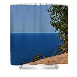 Sleeping Bear Dunes On Lake Michigan Shower Curtain by Diane Lent