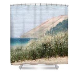 Sleeping Bear Sand Dune Shower Curtain by Dan Sproul