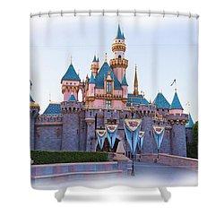Sleeping Beauty's Castle Disneyland Shower Curtain