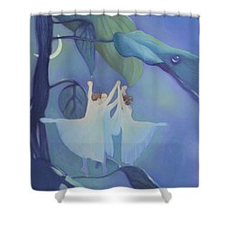 Sleeping Fairies Shower Curtain by Blue Sky