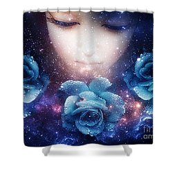 Shower Curtain featuring the digital art Sleeping Rose by Mo T