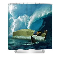 Sleeping With Sharks Shower Curtain