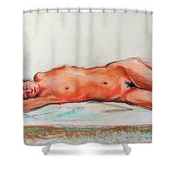 Sleepingblue Shower Curtain