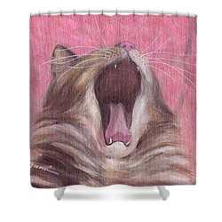 Sleepless In Pink Shower Curtain