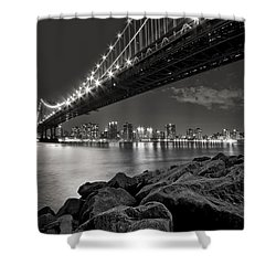 Sleepless Nights And City Lights Shower Curtain