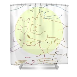 Shower Curtain featuring the digital art Sleepy Heads by Mary Armstrong