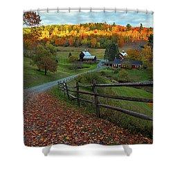 Sleepy Hollow Farm- Pomfret Vt Shower Curtain