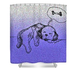 Sleepy Puppy Dreams Shower Curtain