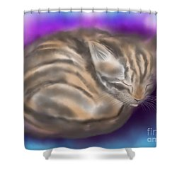 Shower Curtain featuring the painting Sleepy Sam by Nick Gustafson