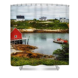 Sleepy Seascape Shower Curtain