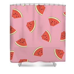 Slice Of Life Shower Curtain by Elizabeth Tuck